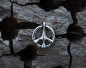 Remember Peace - Peace Sign Pendant in Sterling Silver
