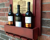 Wine Rack Rustic Cedar Wood / wall decor