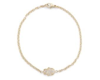 Gold Hamsa Bracelet, Diamond Hamsa Bracelet, Hamsa Hand Bracelet, Hamsa Charm Bracelet, Hamsa, Hamsa Hand, Hamsa Jewelry