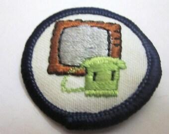 "Junior Girl Scout Badge ""Communication"" circa 1986"