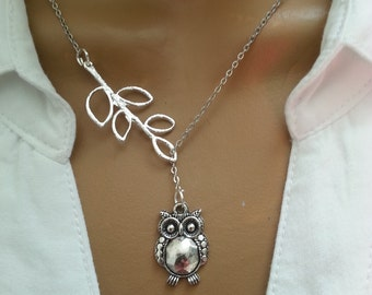Lariat Style Owl necklace