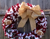A&M Aggie Team Spirit Football Wreath