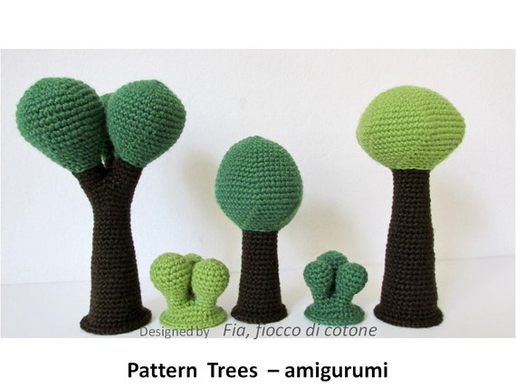 Pattern Trees amigurumi crochet by cottonflake on Etsy
