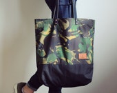 Formvoo Waxed Cotton Tote Bag - Handcrafted in Denmark - shopping bag, beach bag, travel bag.