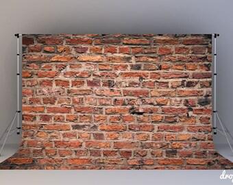 Old Brick Wall - Photography Backdrop