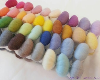 SALE 38 colors(190gram) needle felting wool - needle felt wool- All u need combo