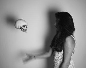 Skull Toss- photograph 5x7 print