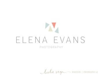 Premade Photography Logo - Simple modern logo with triangles