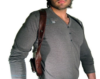 "Revolverbag men holster bag men bag halter men leather bag men ""Louis"""