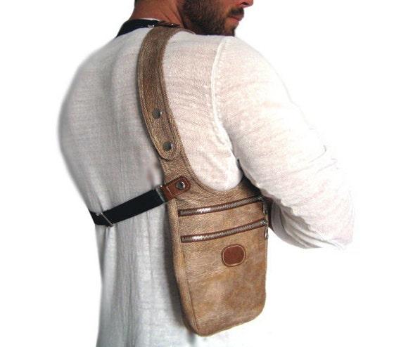 Halter Bag Holster Bag Men Man Bag Holster Lightbrown Men Bag