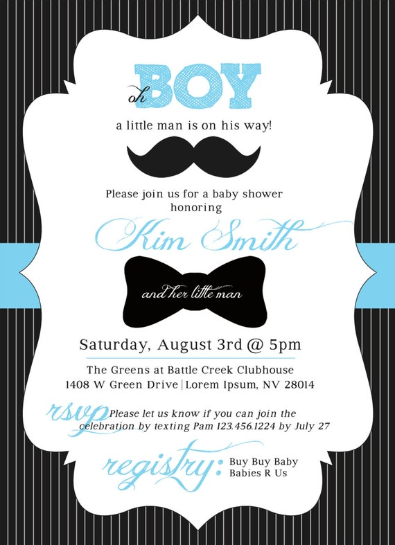 Customizable Little Man Mustache Baby Shower by ...