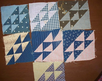 1800s Quilt Blocks 7 Vintage Quilt Blocks In The Corn And