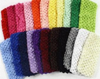 """1  1/2"""" crochet headbands .35"""
