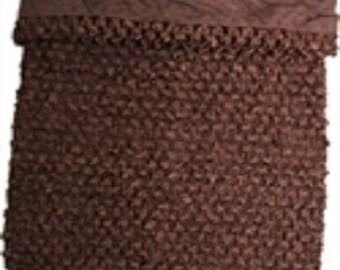 brown 7x7 Inch Lined Crochet Tutu Top 3.99