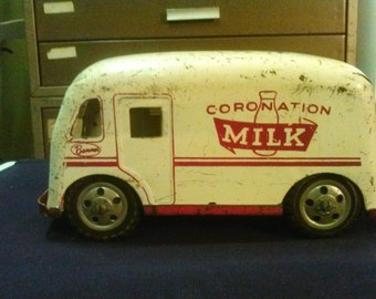Rare vintage Banner Coronation milk truckRare Vintage CORONATION MILK TRUCK