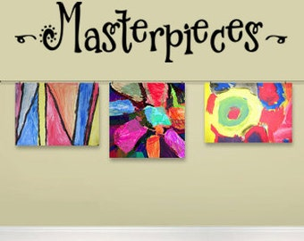 Masterpieces - vinyl wall decal - Children's Art Display