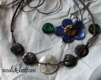 Madreperla twisted necklace