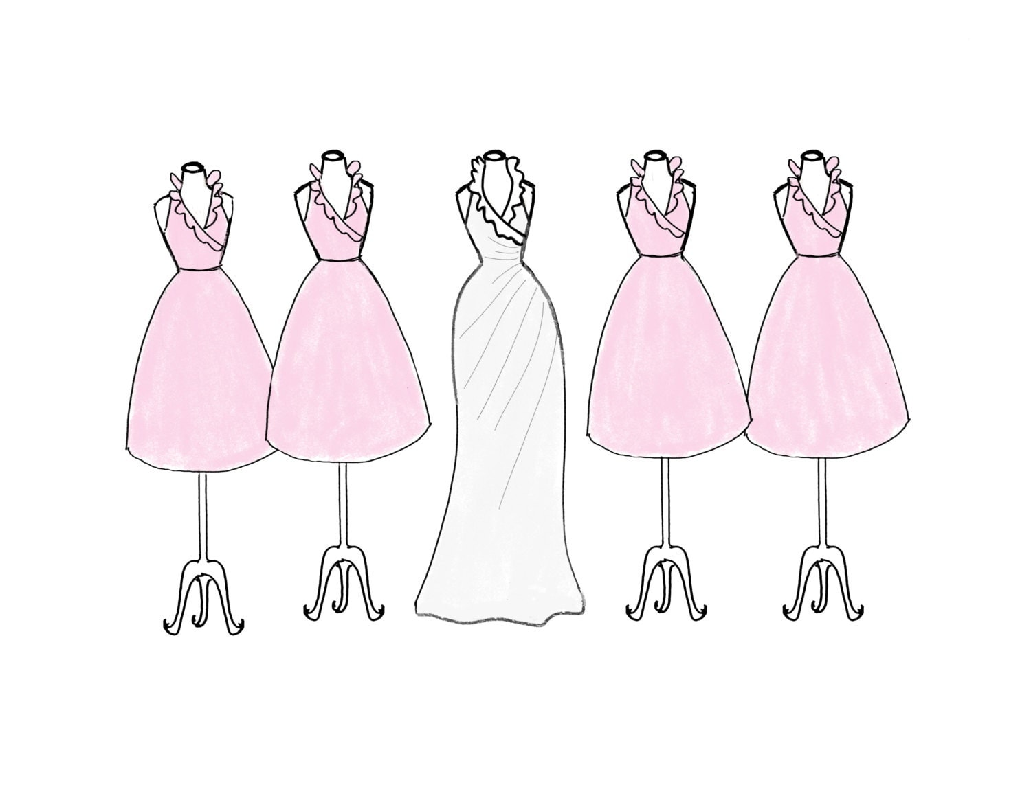 Displaying 15> Images For - Bridesmaid Clipart Silhouette...