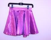 Pink Metallic Circle Skirt