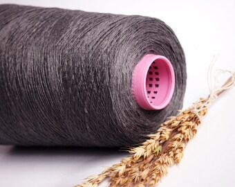 500 g/ 17,5 oz Natural Linen Yarn, High Quality, Linen Yarn For Crochet, Knitting