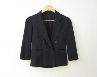 Black Shrunken Boy Blazer XS 0