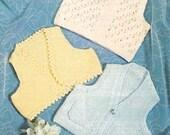 SUMMER SALE - Sirdar 3396 Vintage PDF Knitting Pattern Baby Waistcoat and Bolero