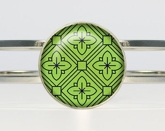 Abstract bracelet Green bracelet abstract jewelry