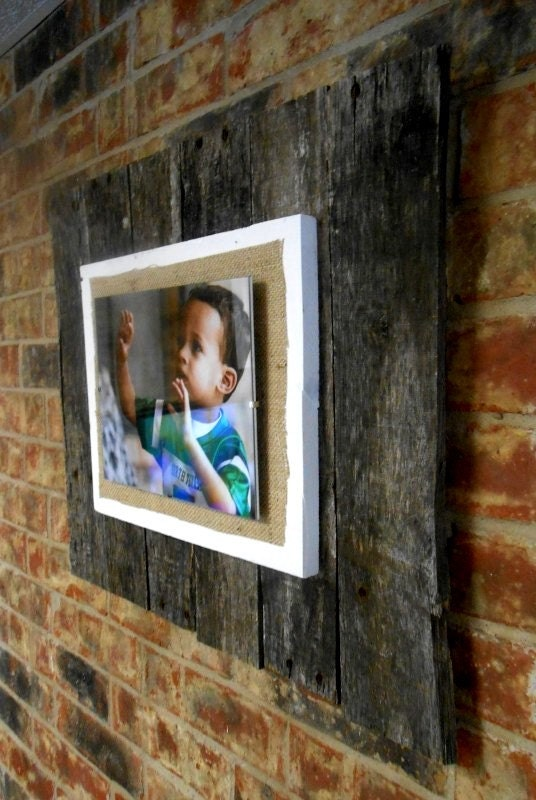 Large Reclaimed Pallet Wood Frame Wall Hanging