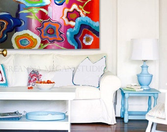 Original Large Colorful Painting Kaleidoscope Exotica