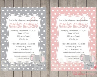 Baby Shower Elephant Invitation Personalized Printable