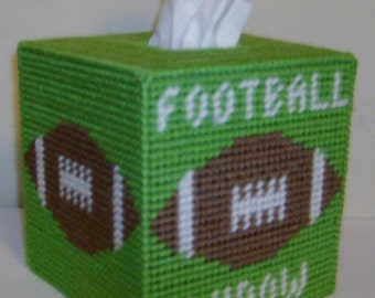 On Sale!  Tissue Box Cover FOOTBALL WIDOW Are you one?