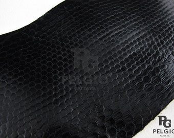"PELGIO New Genuine Sea Snake Skin Leather Hide Pelt Black Grade A 4"" Free Shipping"
