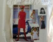 Anna Sui Vogue 1789 Pattern Adorable Vintage Chic Designer Dresses with Kerchief