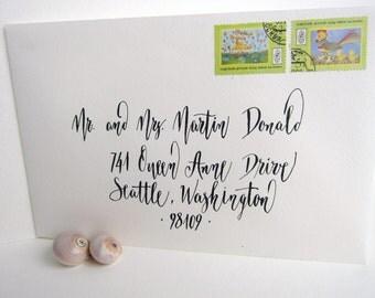 Custom Hand Wedding Calligraphy Envelope Addressing