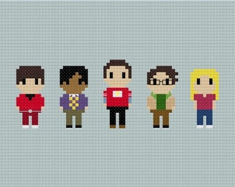 The Big Bang Theory Cross Stitch Pattern