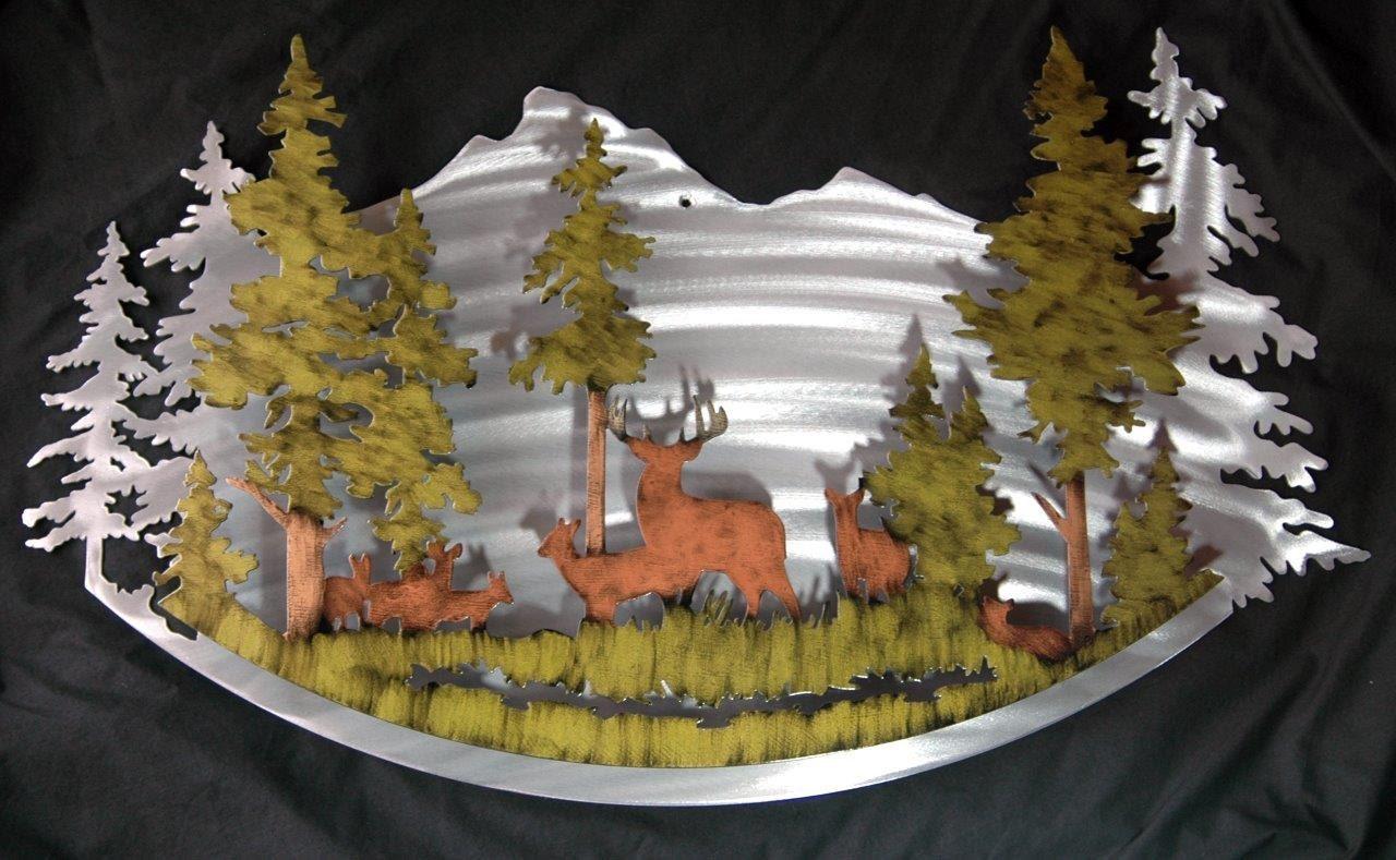 Art Décor: Deer Metal Art Wall Decor Cabin Art Hunting Art Nature Decor