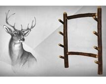 Rustic Hickory Gun Rack holds 4 Guns