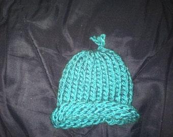 Blue Preemie Baby Hat