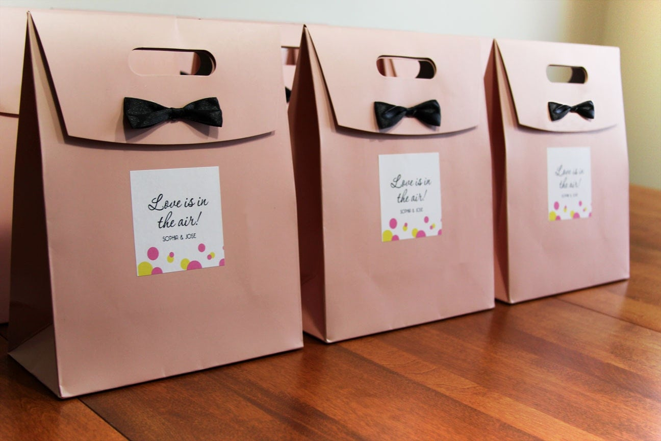 Gifts For Out Of Town Wedding Guests: Custom Personalized Wedding Welcome Bags// Destination Wedding