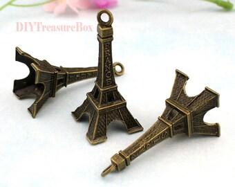 5pcs--Eiffel Tower Charms,Antique bronze Large Eiffel Tower Charm Pendants 22x49mm