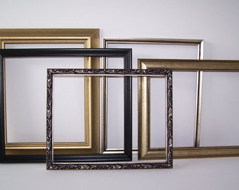 Vintage Upcycled Metallic Toned Frame Collection Shabby Home Office Dorm Decor