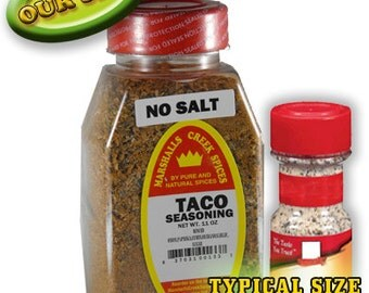 TACO SEASONING, No Salt 11 oz