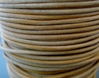 Natural 1.8 mm leather cord - 25 yards