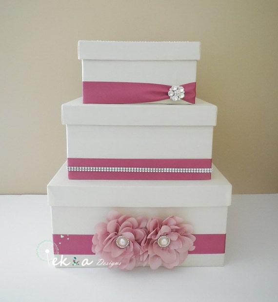 3 Tier Wedding Gift Box : Wedding card box / money box / card holder / gift card box / 3 Tier ...
