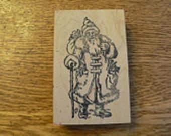 Jolly Old Santa Rubber Stamp