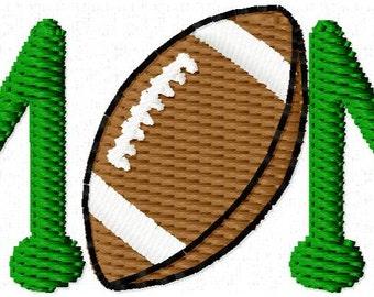 Mini Mom Football Embroidery Design