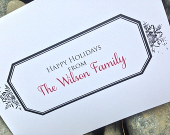 Christmas Cards, Holiday Card Set, Personalized Christmas Cards - Classic Frame