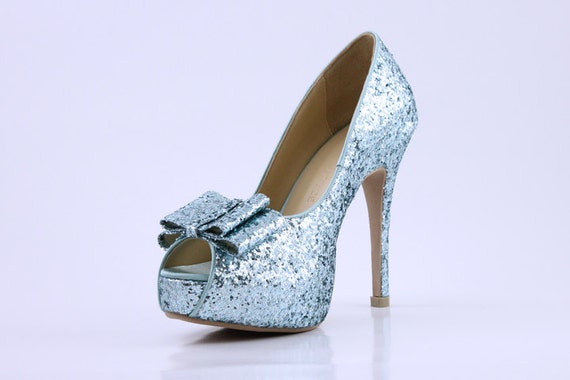 Items similar to Something Blue Wedding Shoes, Light Blue Wedding ...