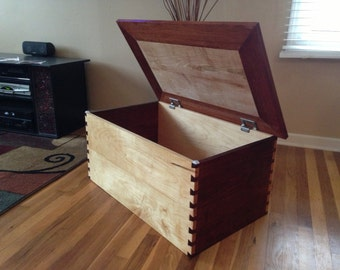 This is a custom made dovetail heirloom  toy box