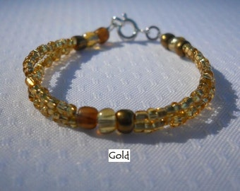 Double Strand Beaded Baby Bracelet